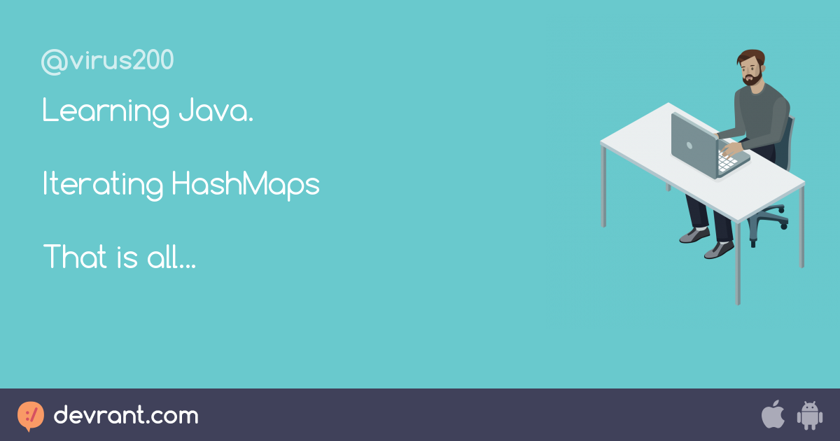 hashmaps - Learning Java  Iterating HashMaps That is all