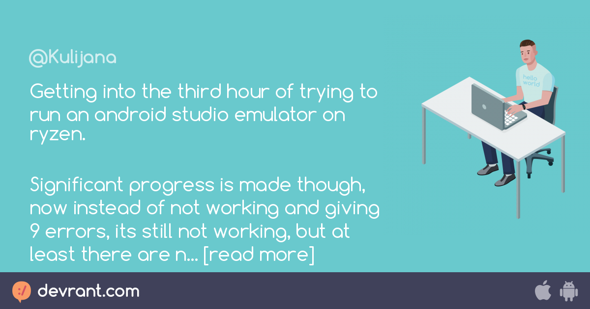 Getting into the third hour of trying to run an android studio