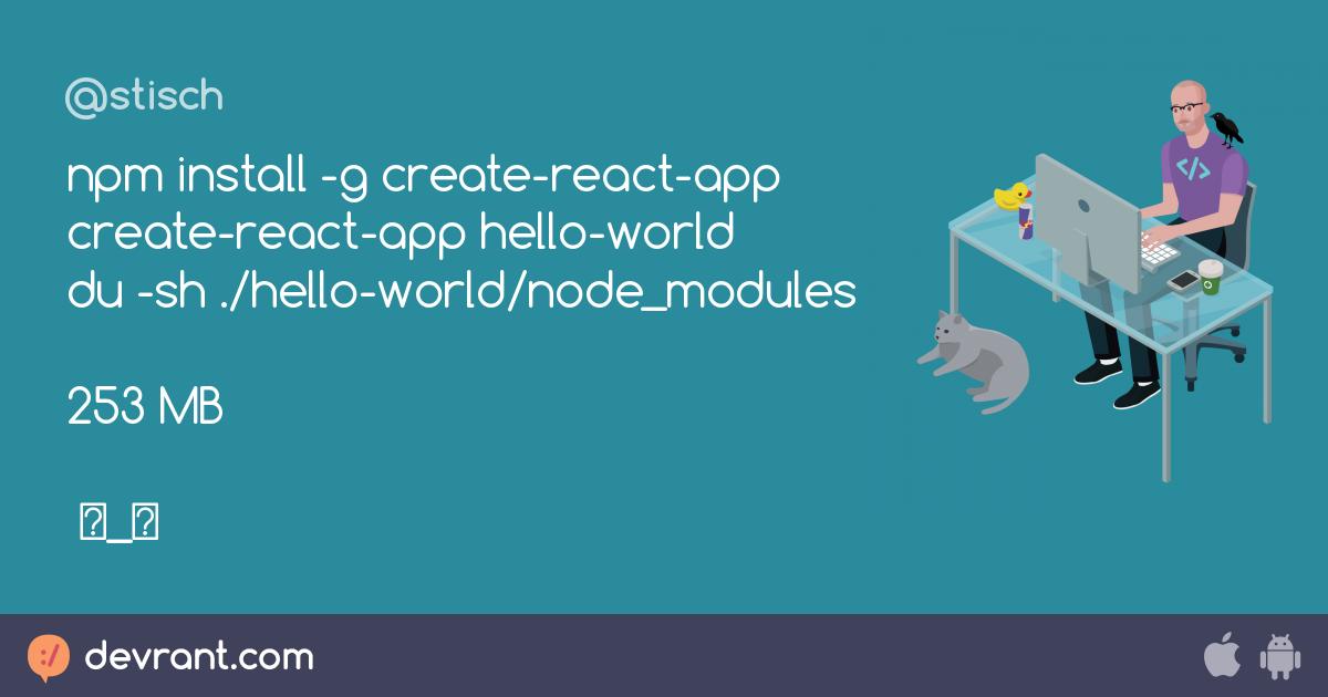 create react app npm