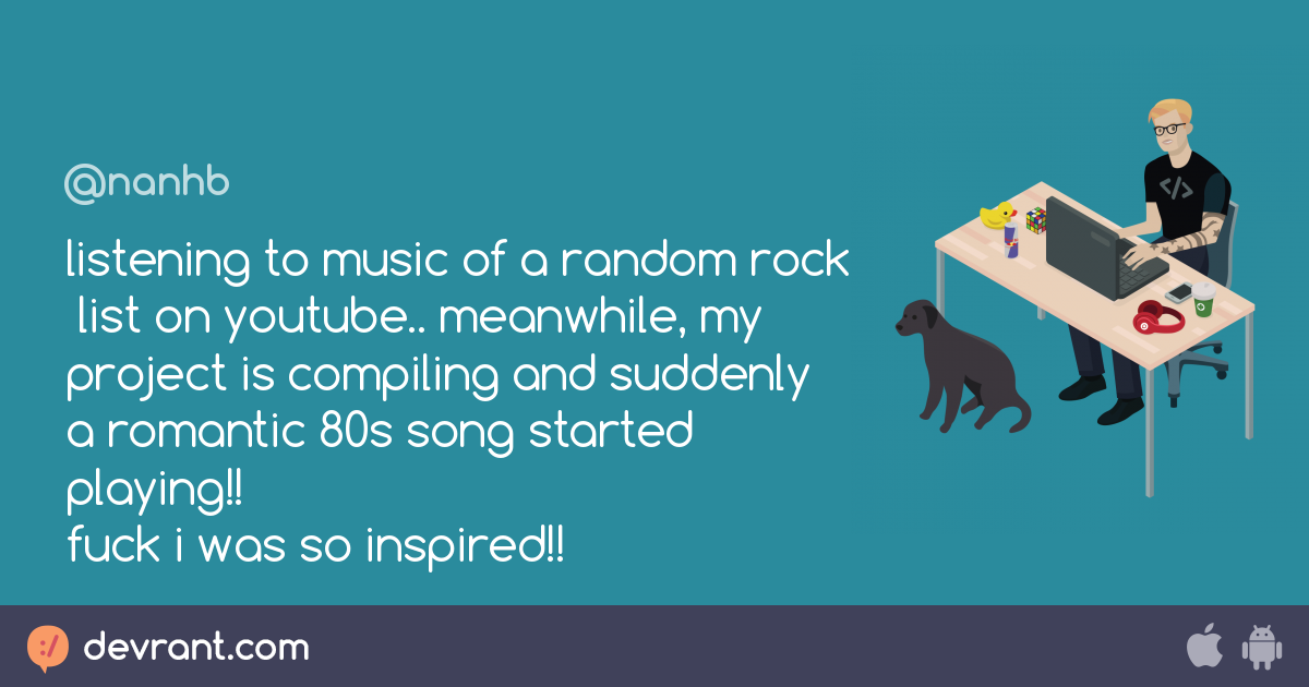 music - listening to music of a random rock list on youtube