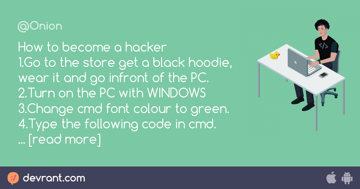hacking - How to become a hacker😎 1 Go to the store get a black