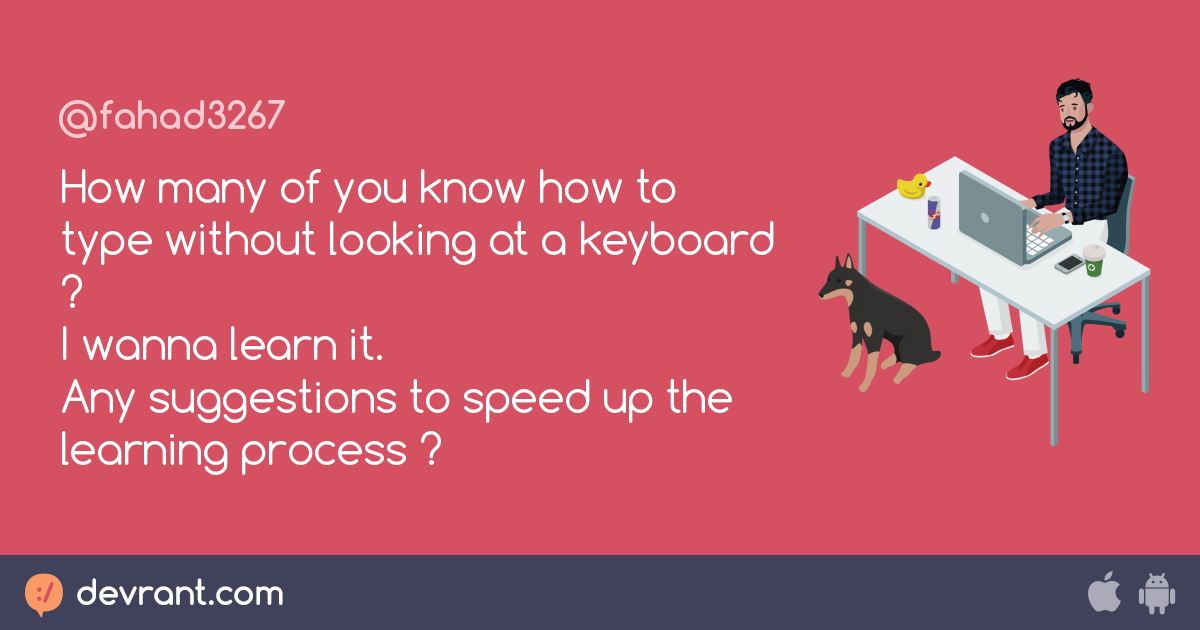 how to type without looking at keyboard