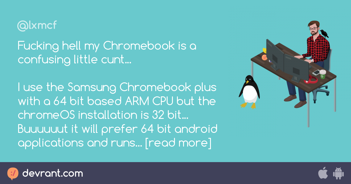 Fucking hell my Chromebook is a confusing little cunt    I