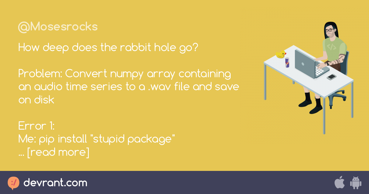 rant fuck stupid packages - How deep does the rabbit hole go