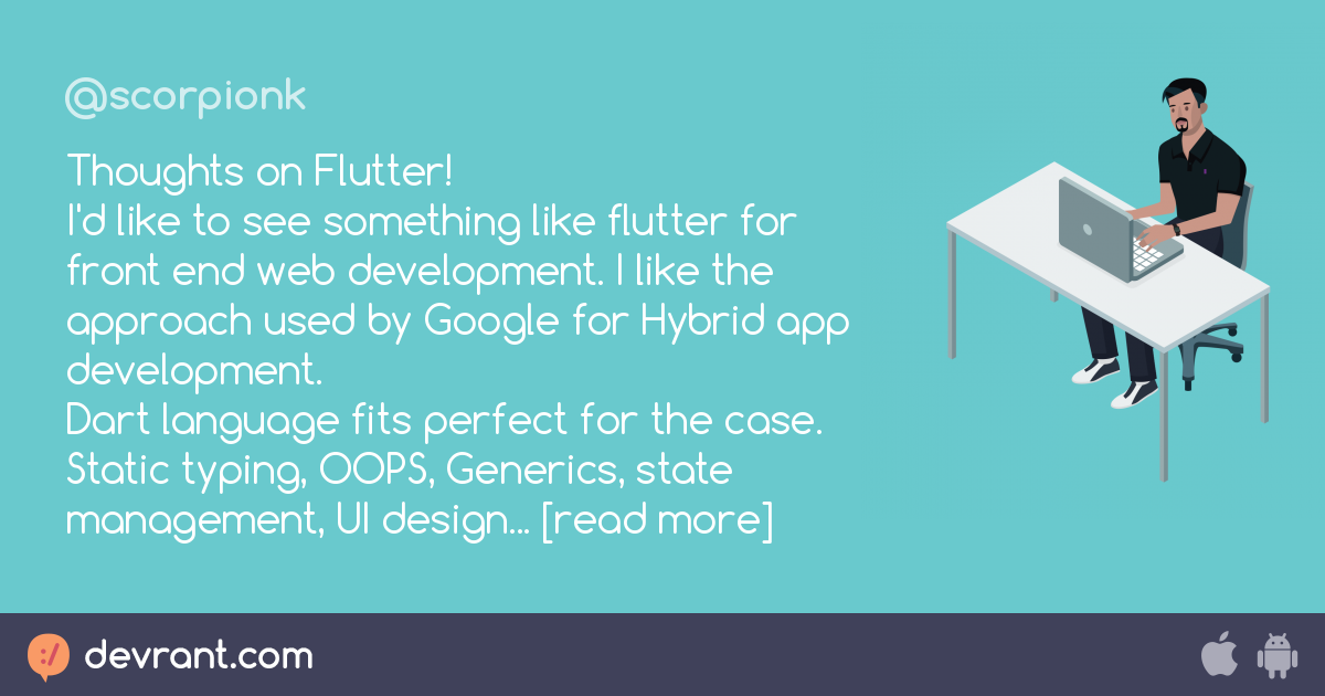 web development - Thoughts on Flutter! I'd like to see something