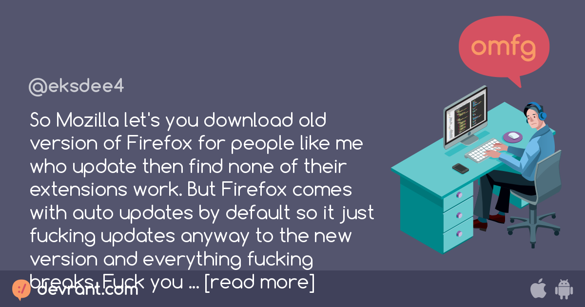 mozilla firefox - So Mozilla let's you download old version