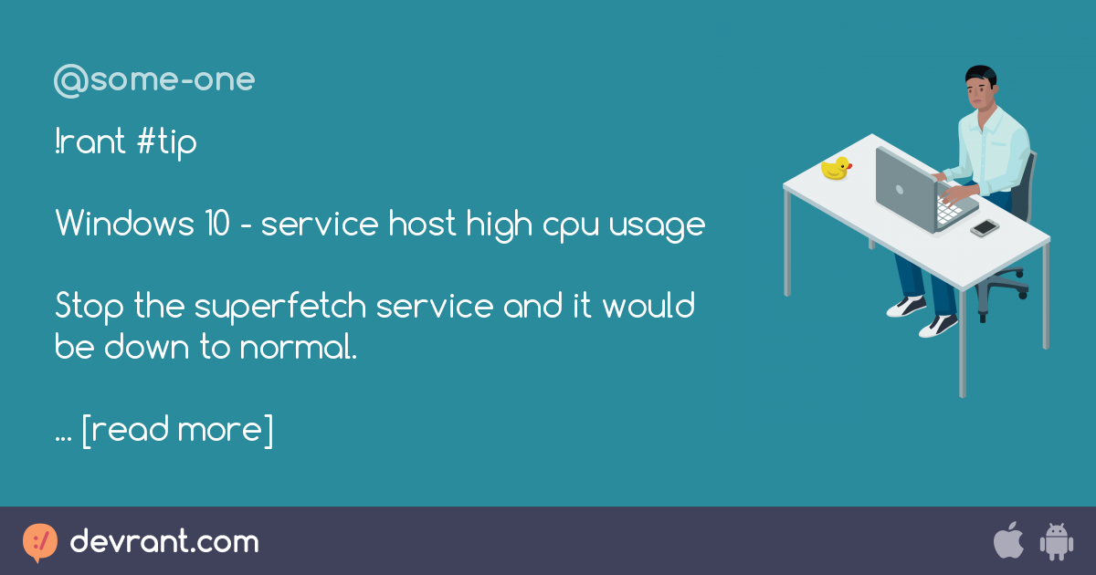 service host superfetch disable windows 10