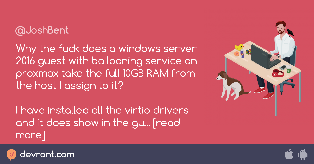 ram - Why the fuck does a windows server 2016 guest with ballooning