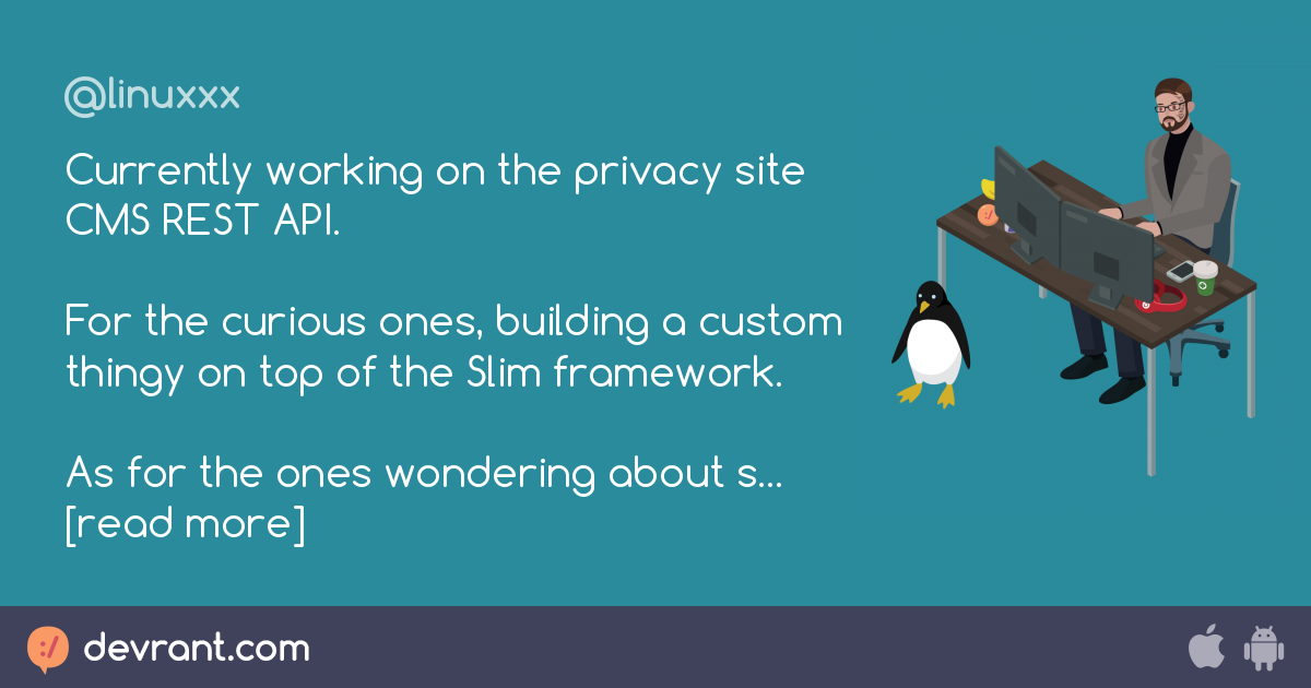 api - Currently working on the privacy site CMS REST API  For the