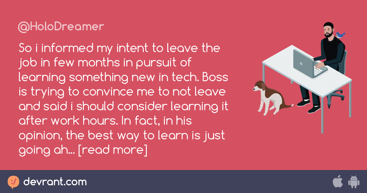 intention to quit the job for